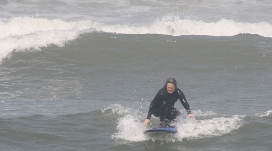 Surfing in Peru